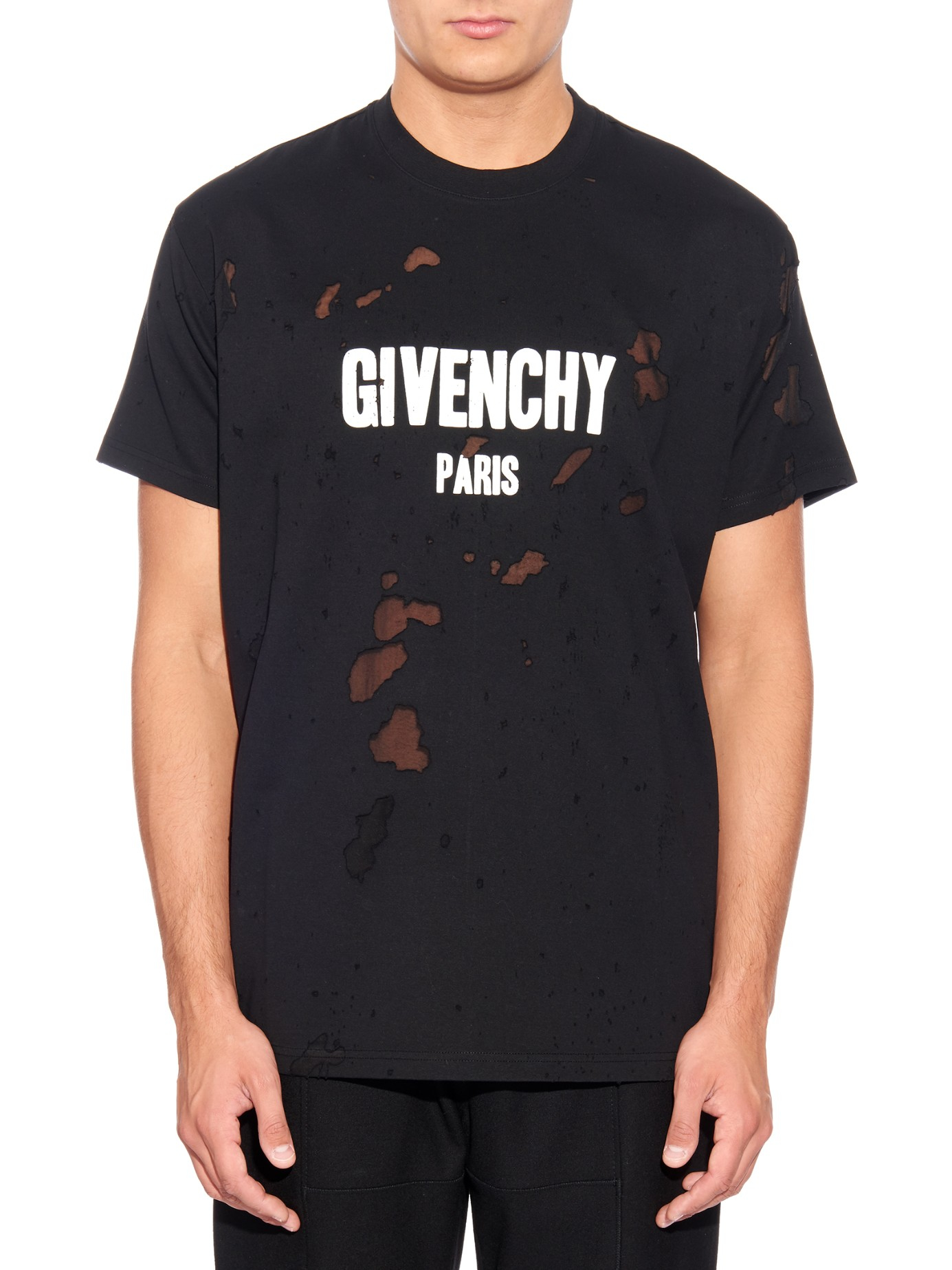 Lyst Givenchy Columbian Fit Logo Print T Shirt In Black
