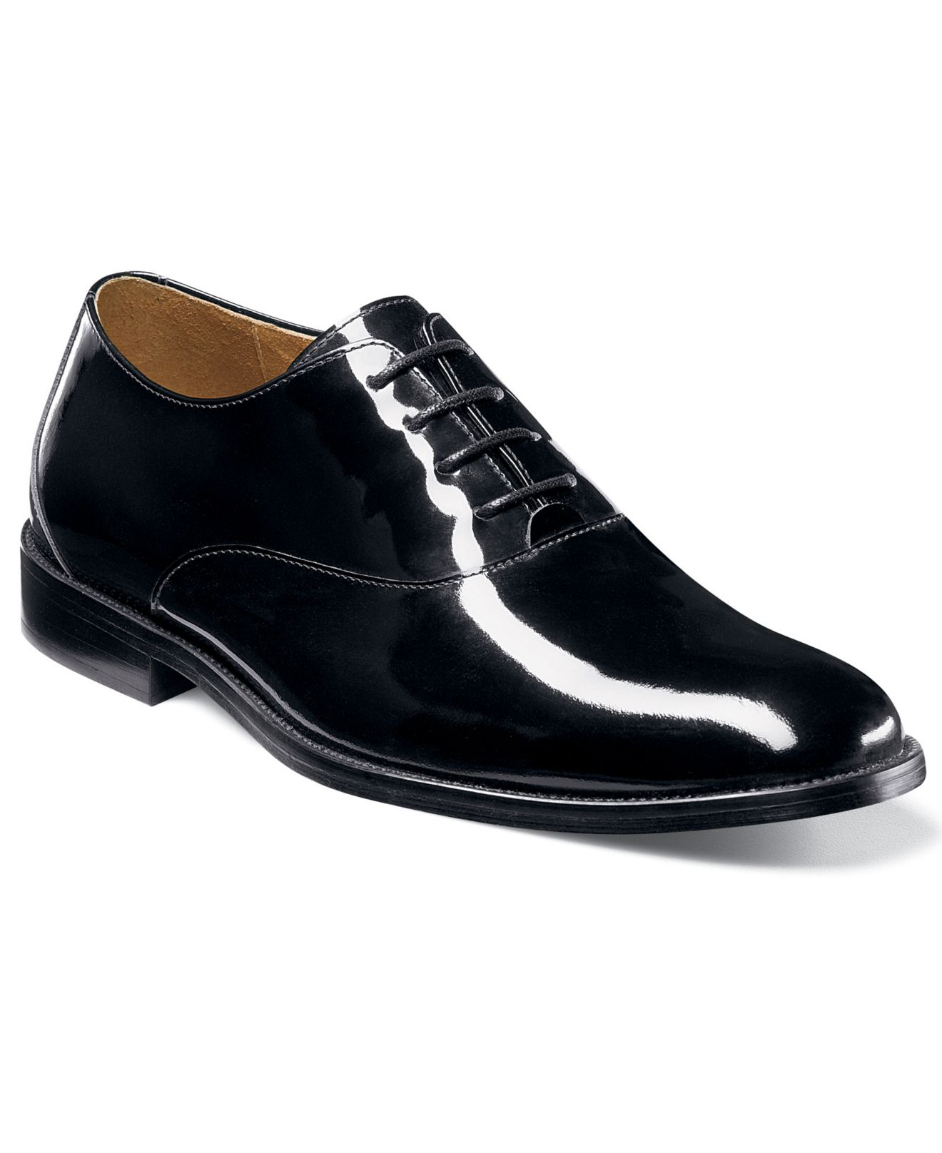 Womens Black Patent Leather Oxford Shoes