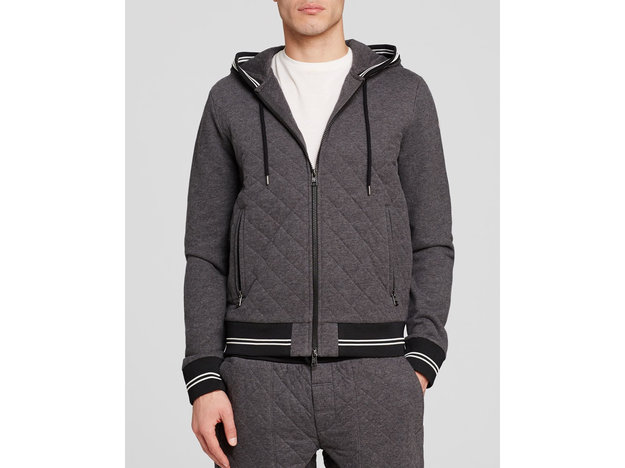 Lyst - Moncler Maglia Quilted Cardigan in Gray for Men : quilted cardigan - Adamdwight.com