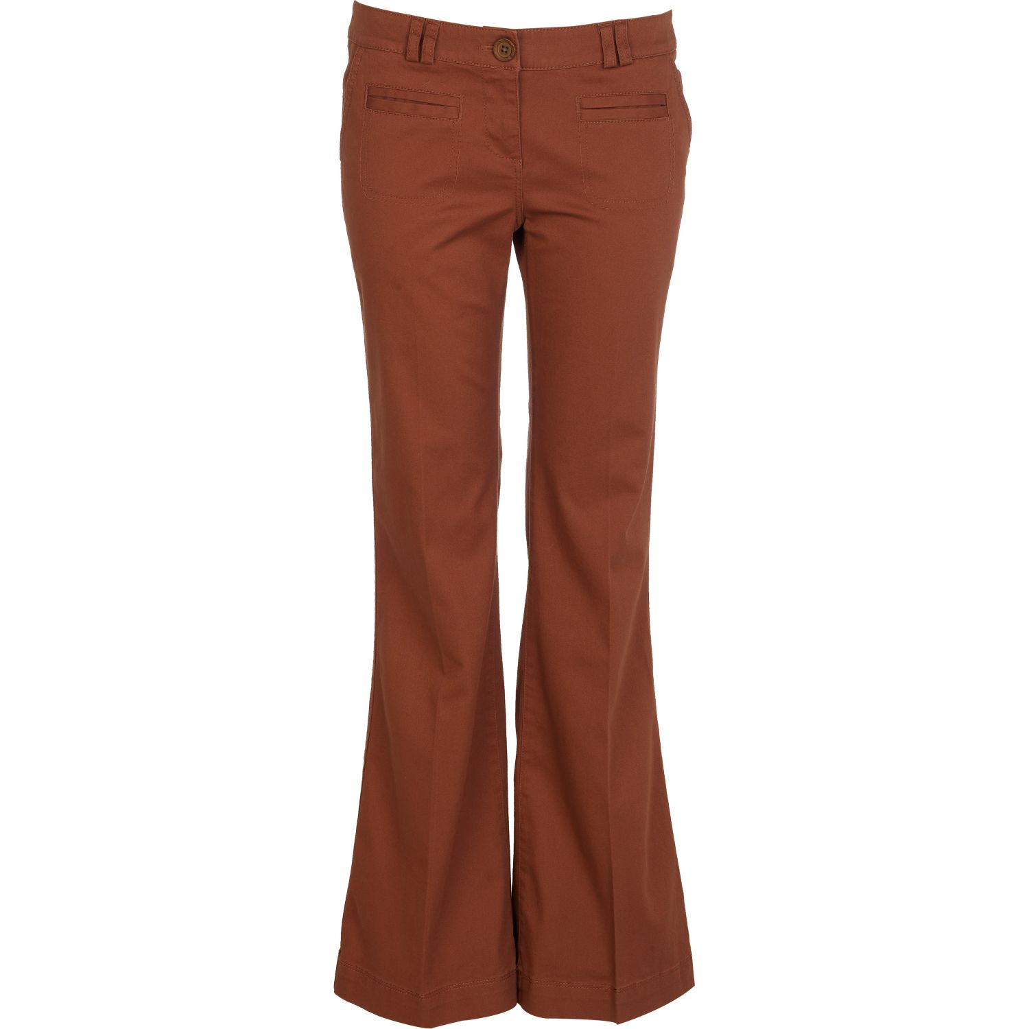 White Flared Trousers River Island