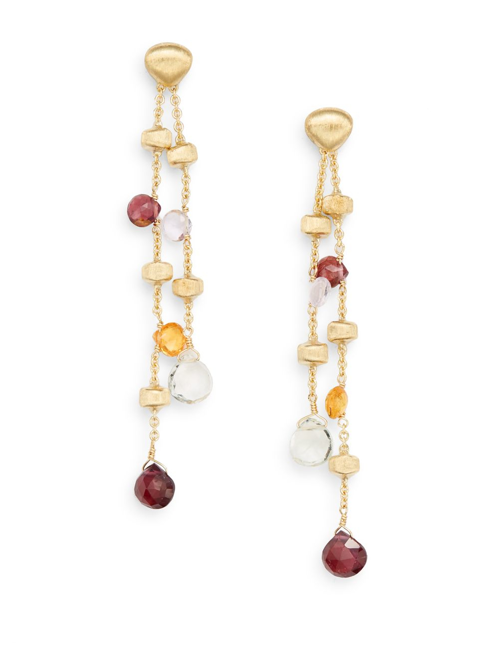 Marco Bicego Paradise Long Mixed-Stone Drop Earrings exI6OcCipq