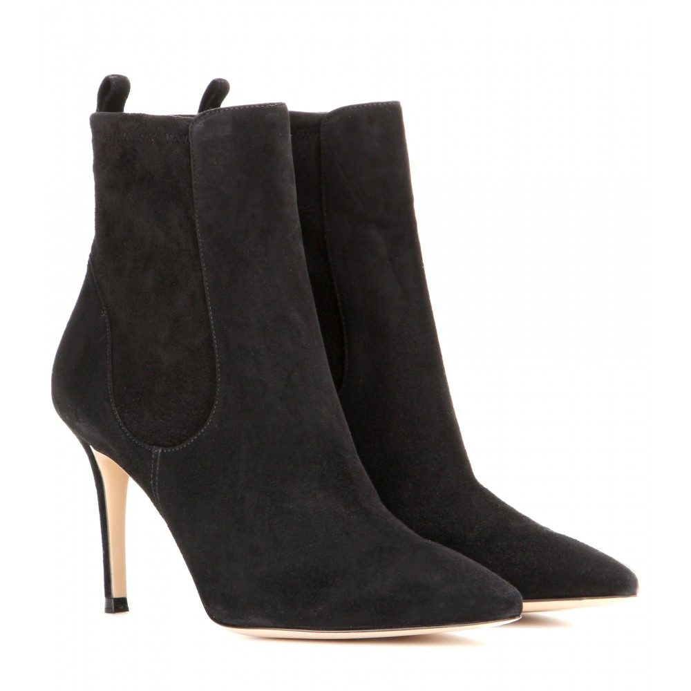 gianvito suede ankle boots in black lyst
