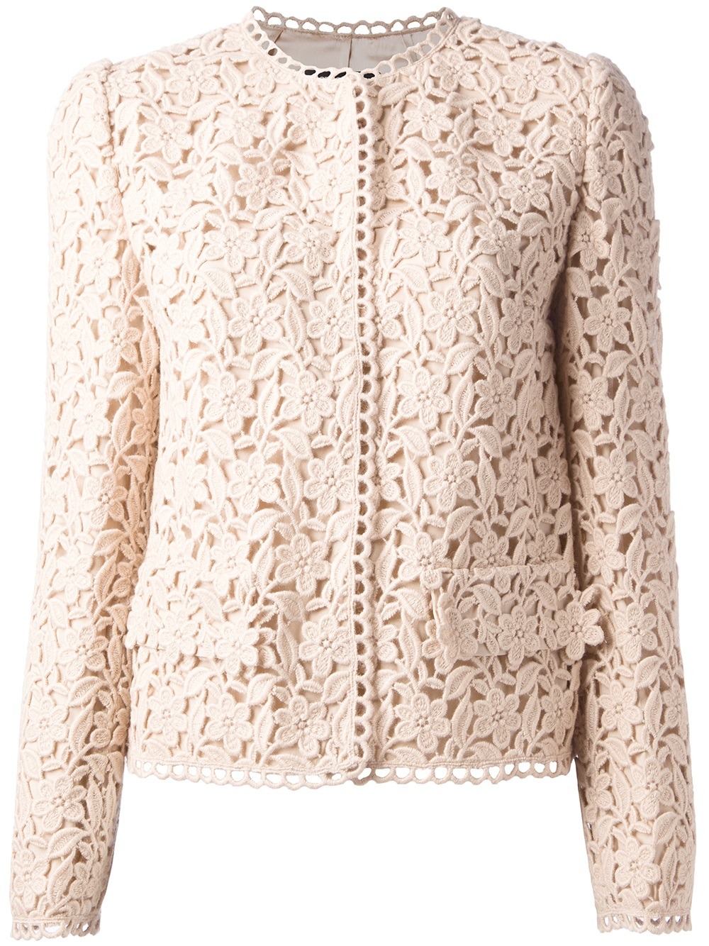 Lyst Dolce Amp Gabbana Lace Jacket In Natural