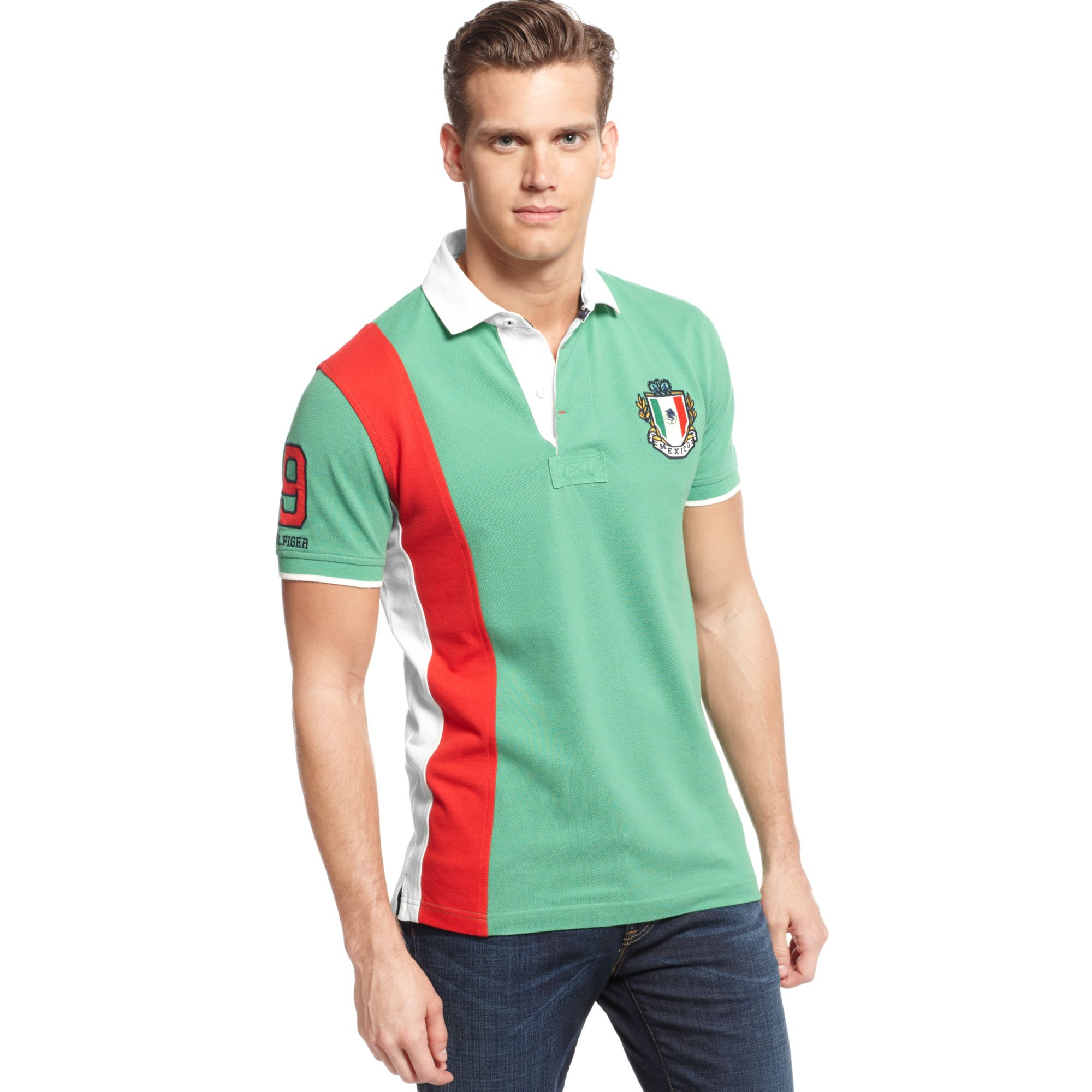 18cb7e359150 Lyst - Tommy Hilfiger Mexico World Cup Polo European Collection in ...