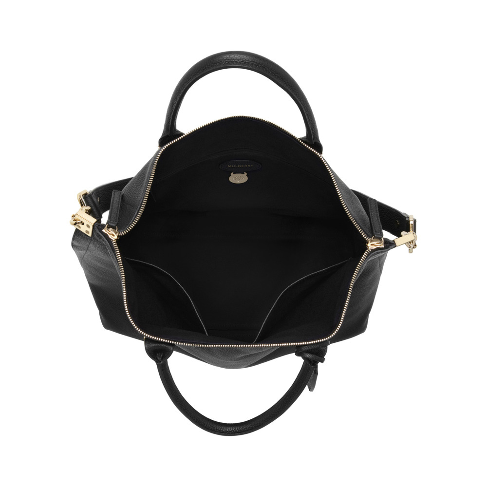 03f7c383bf Lyst - Mulberry Alice Zipped Leather Tote in Black