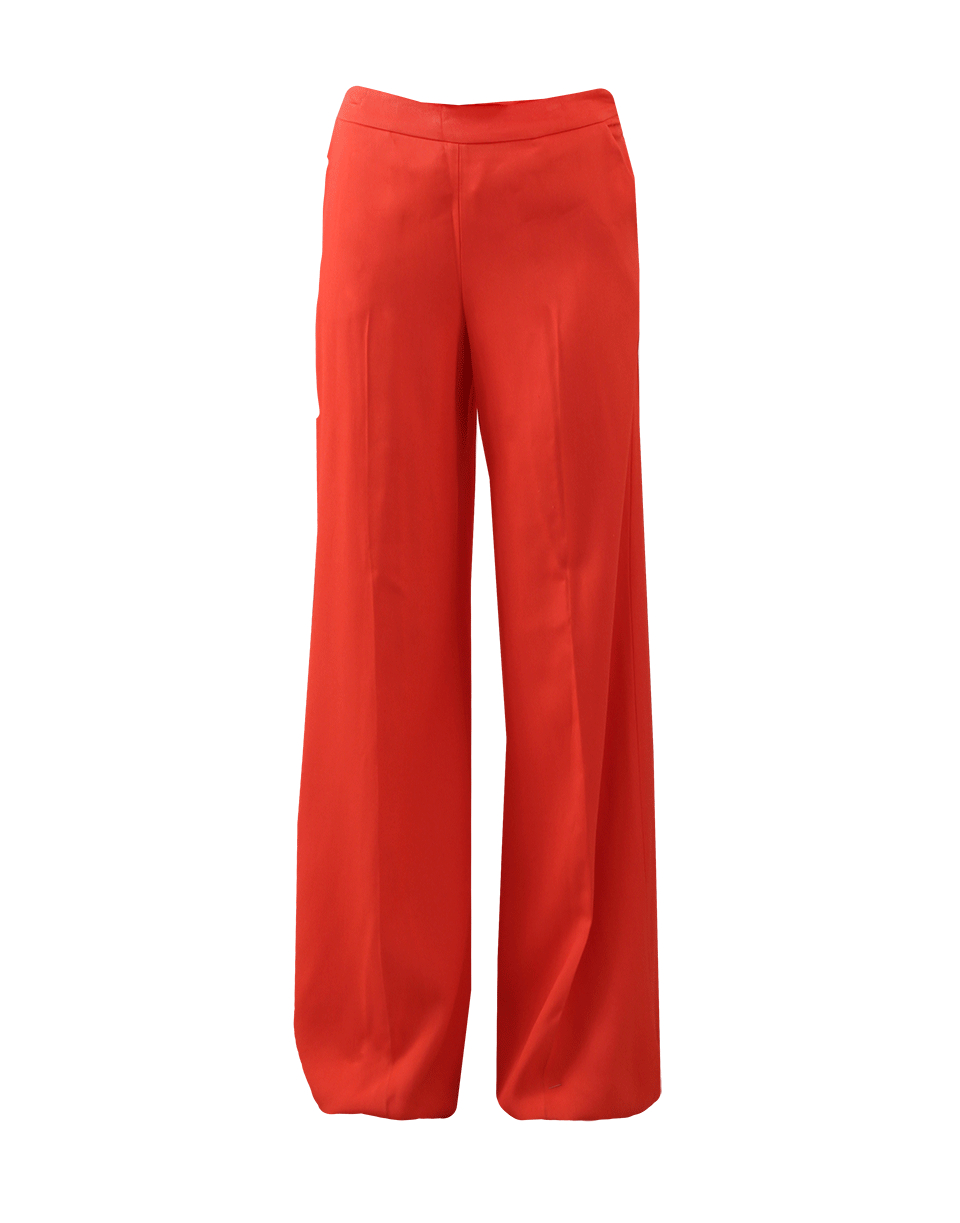 Lyst - Oscar De La Renta Wide Leg Pant in Red