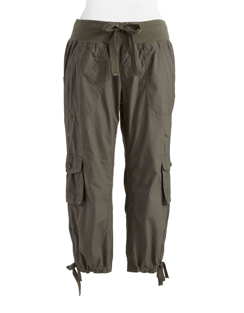 New Calvin Klein Performance Cotton Cargo Pants In Natural  Lyst