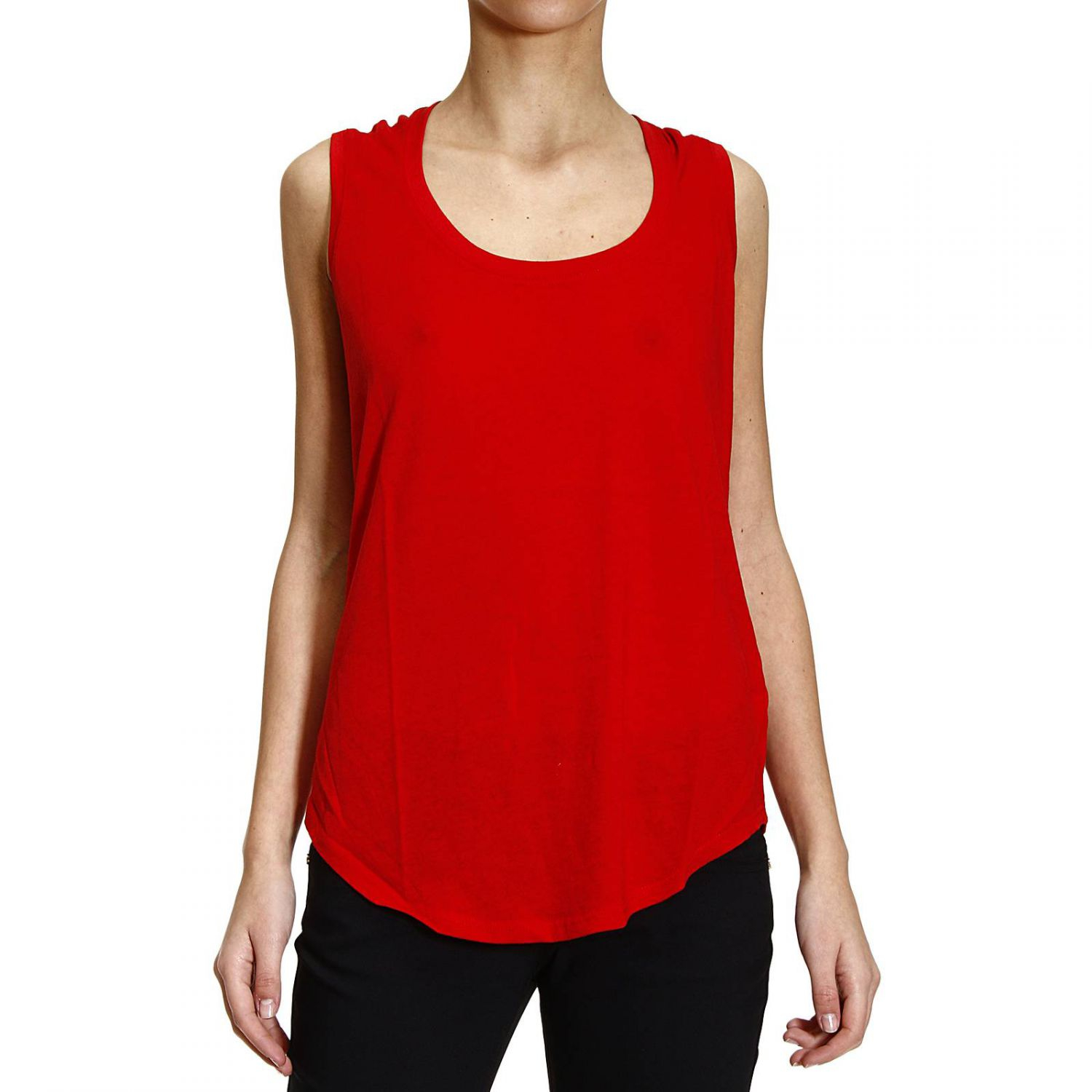 polo ralph lauren t shirt sleeveless crew neck in red. Black Bedroom Furniture Sets. Home Design Ideas