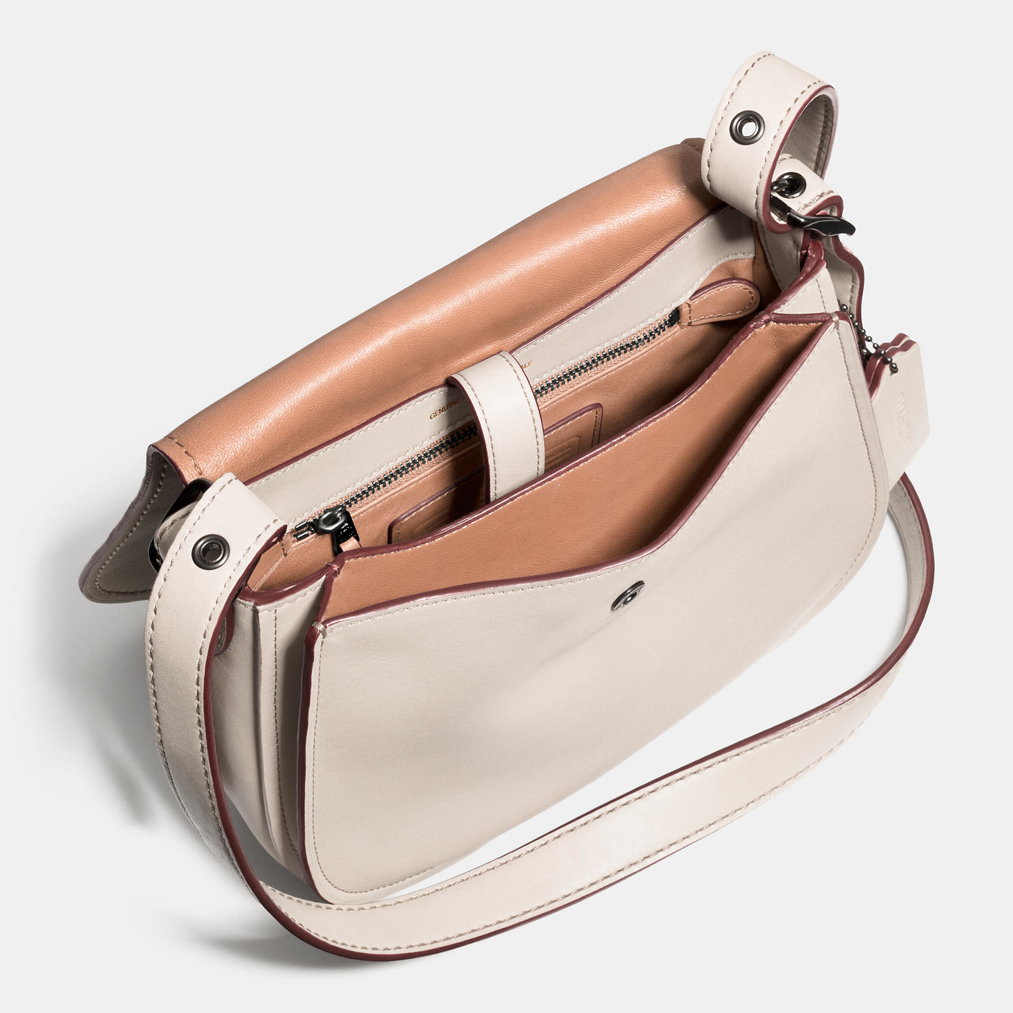 324dabd9e5a ... promo code for coach saddle bag 23 in glovetanned leather lyst b0904  8dc8f