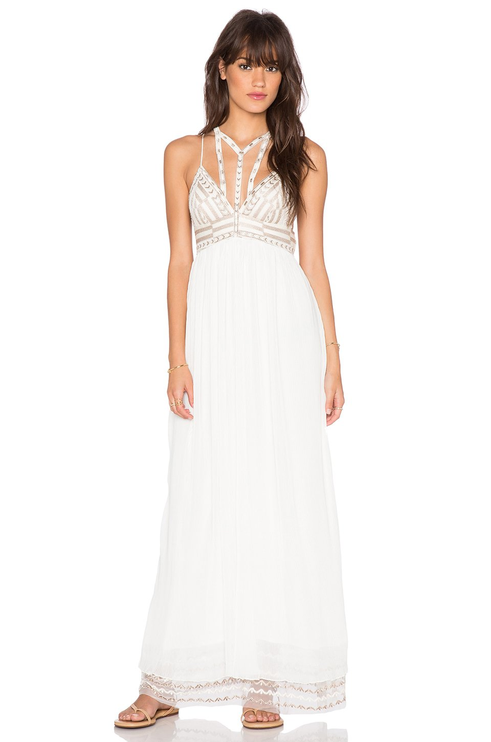 Free people Sacred Geometry Maxi Dress in White | Lyst
