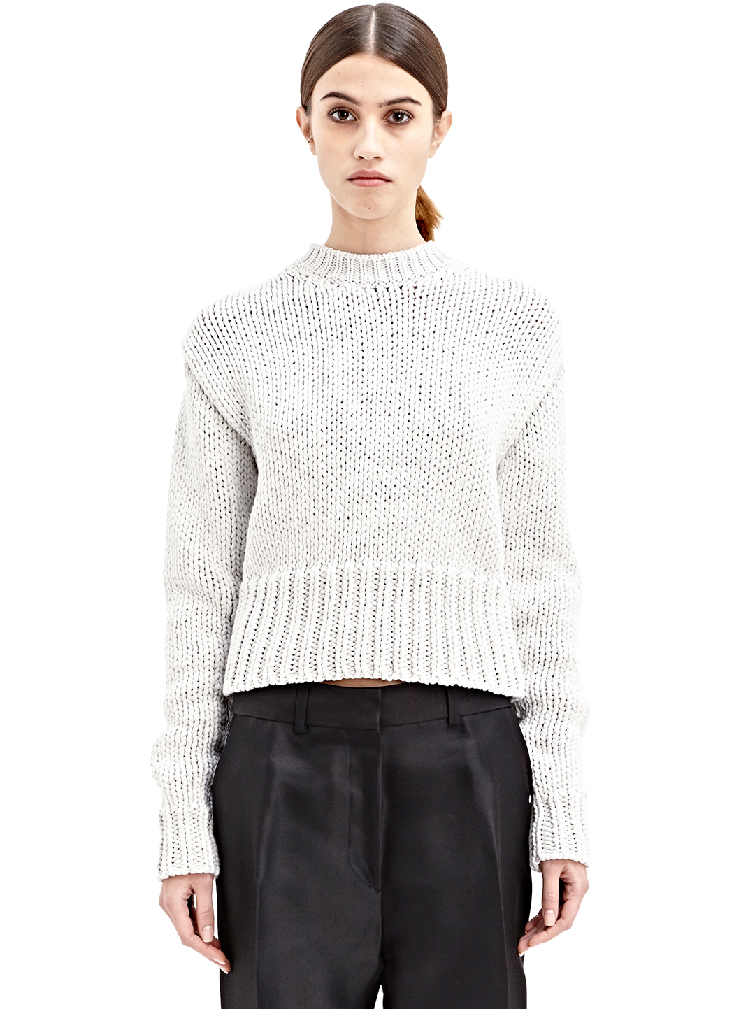 acne studios liana sweater in white lyst. Black Bedroom Furniture Sets. Home Design Ideas