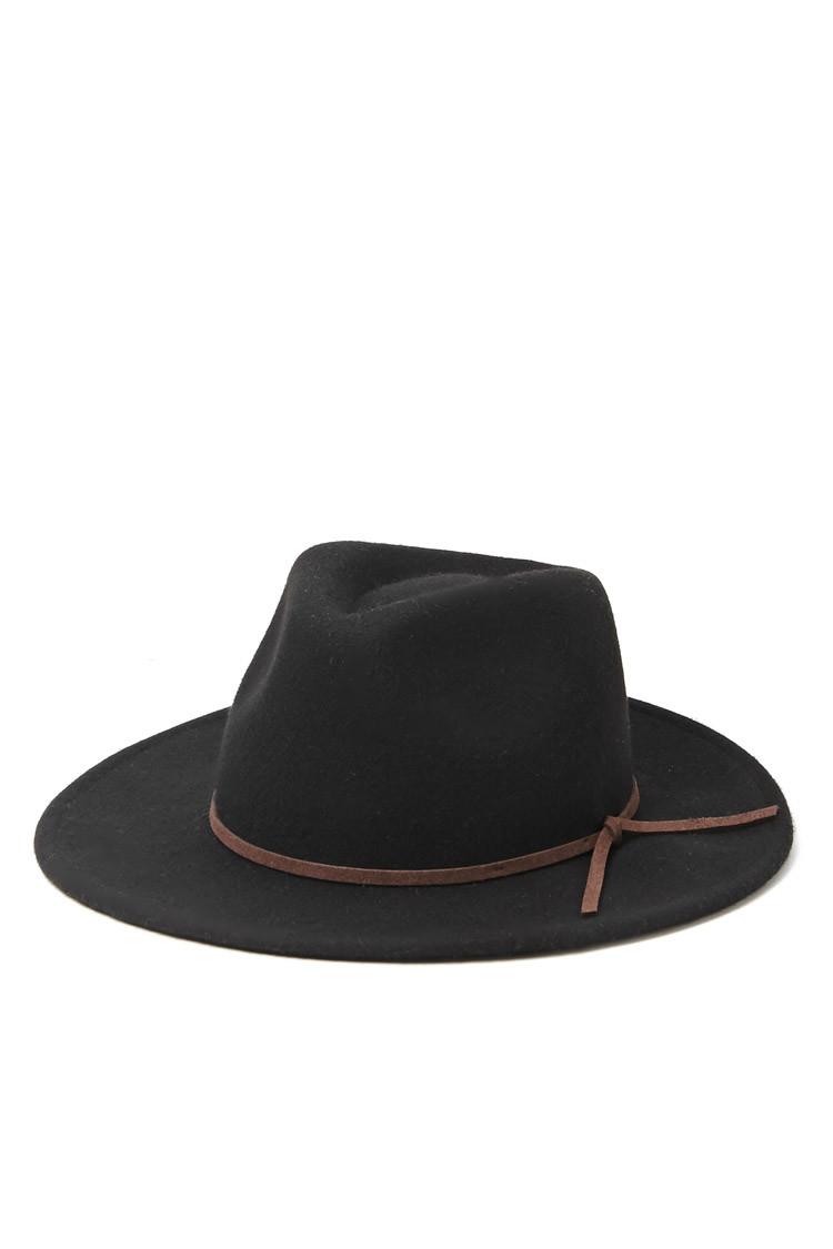 fbf1219ab2e Mens Black Wide Brim Fedora Hat - Hat HD Image Ukjugs.Org