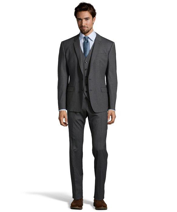 Dolce & gabbana Medium Grey Wool 2-button 'martini' 3-piece Suit ...