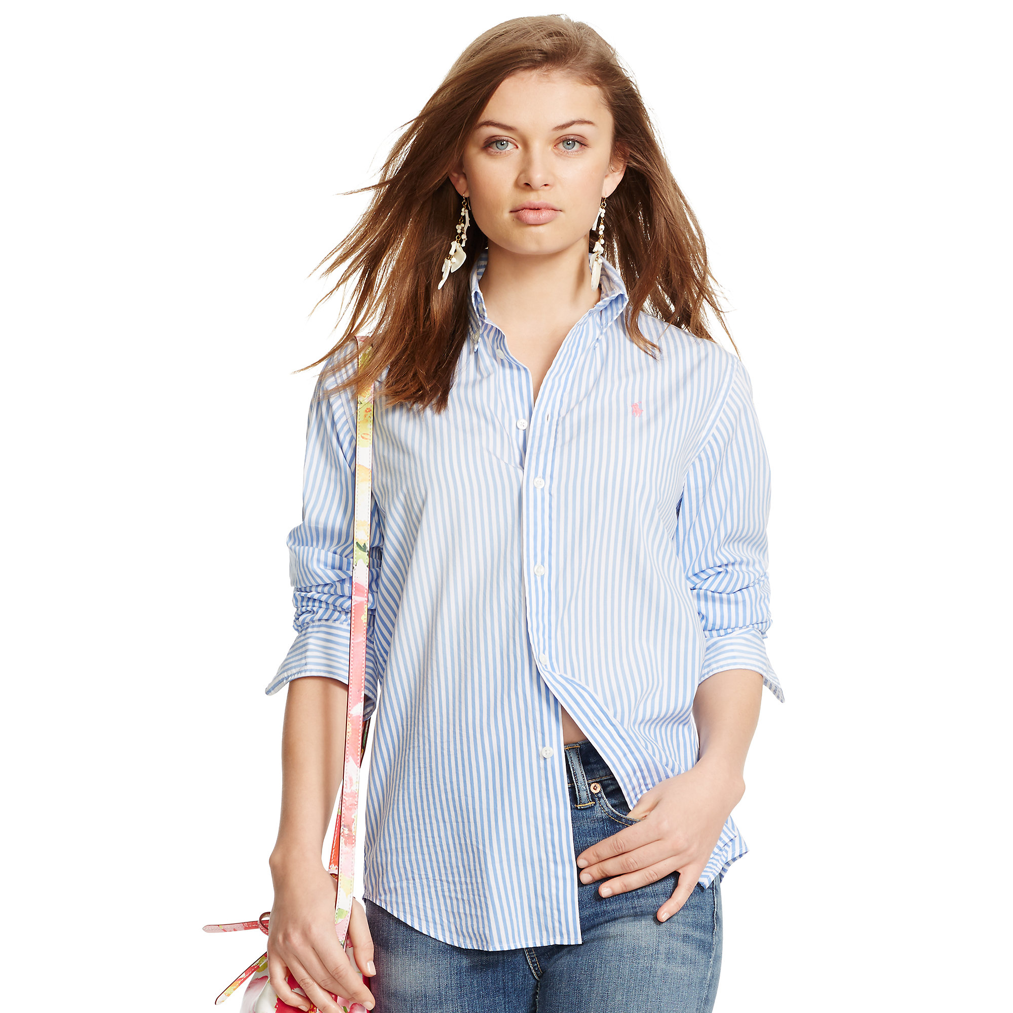 701ea6a8 Polo Ralph Lauren Relaxed-fit Striped Shirt in Blue - Lyst