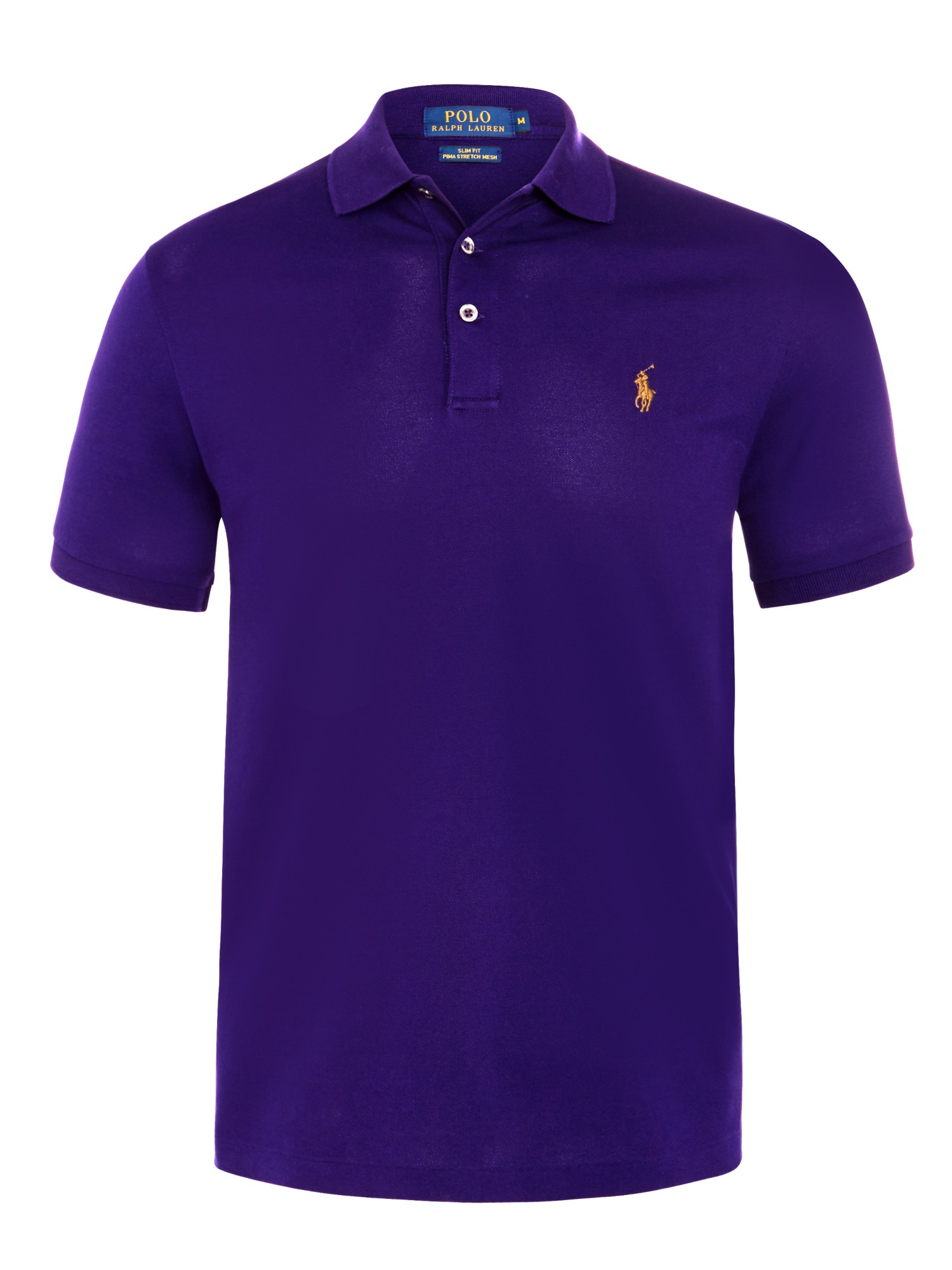 polo ralph lauren slim fit polo shirt in purple for men lyst. Black Bedroom Furniture Sets. Home Design Ideas