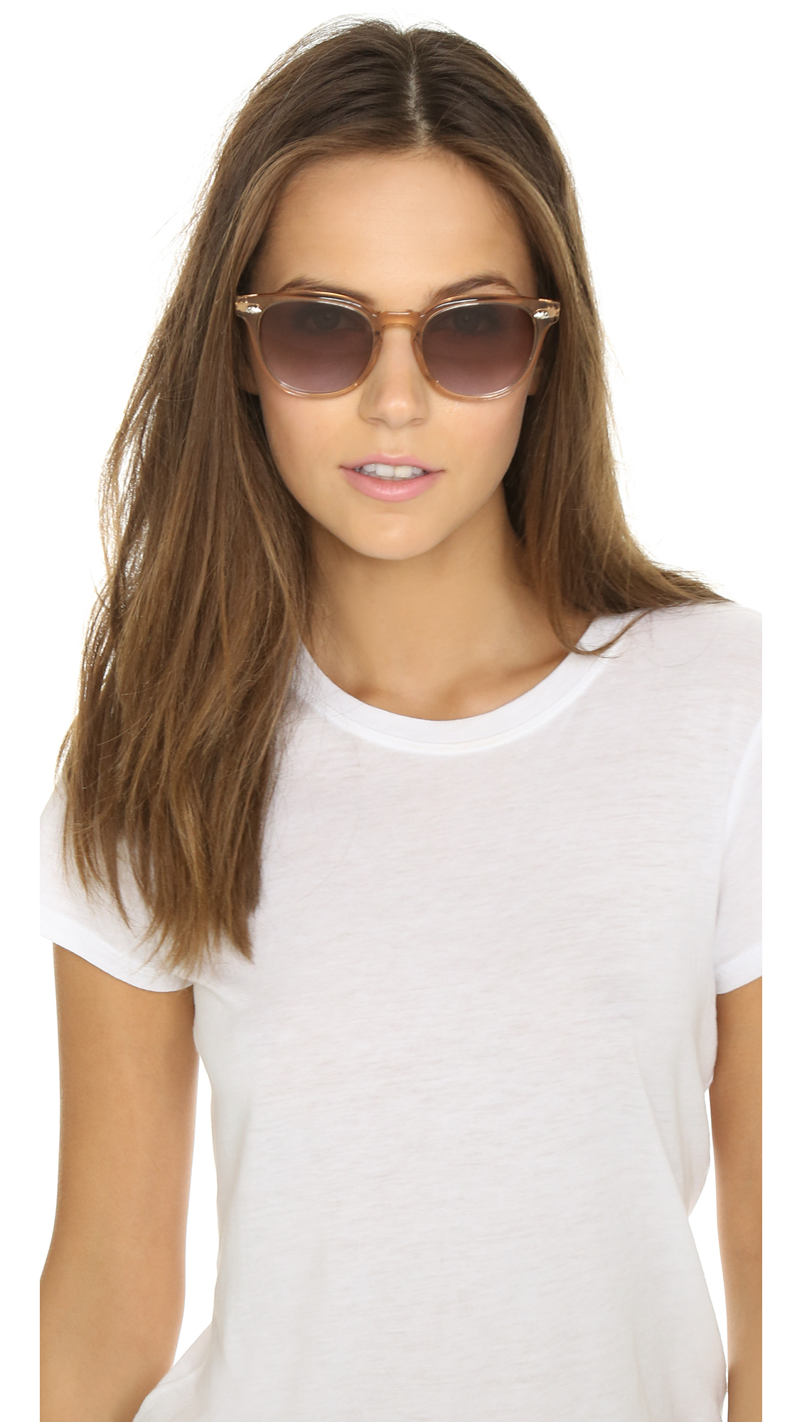 4d1142079ad Lyst - Oliver Peoples Sheldrake Plus Sunglasses in Pink