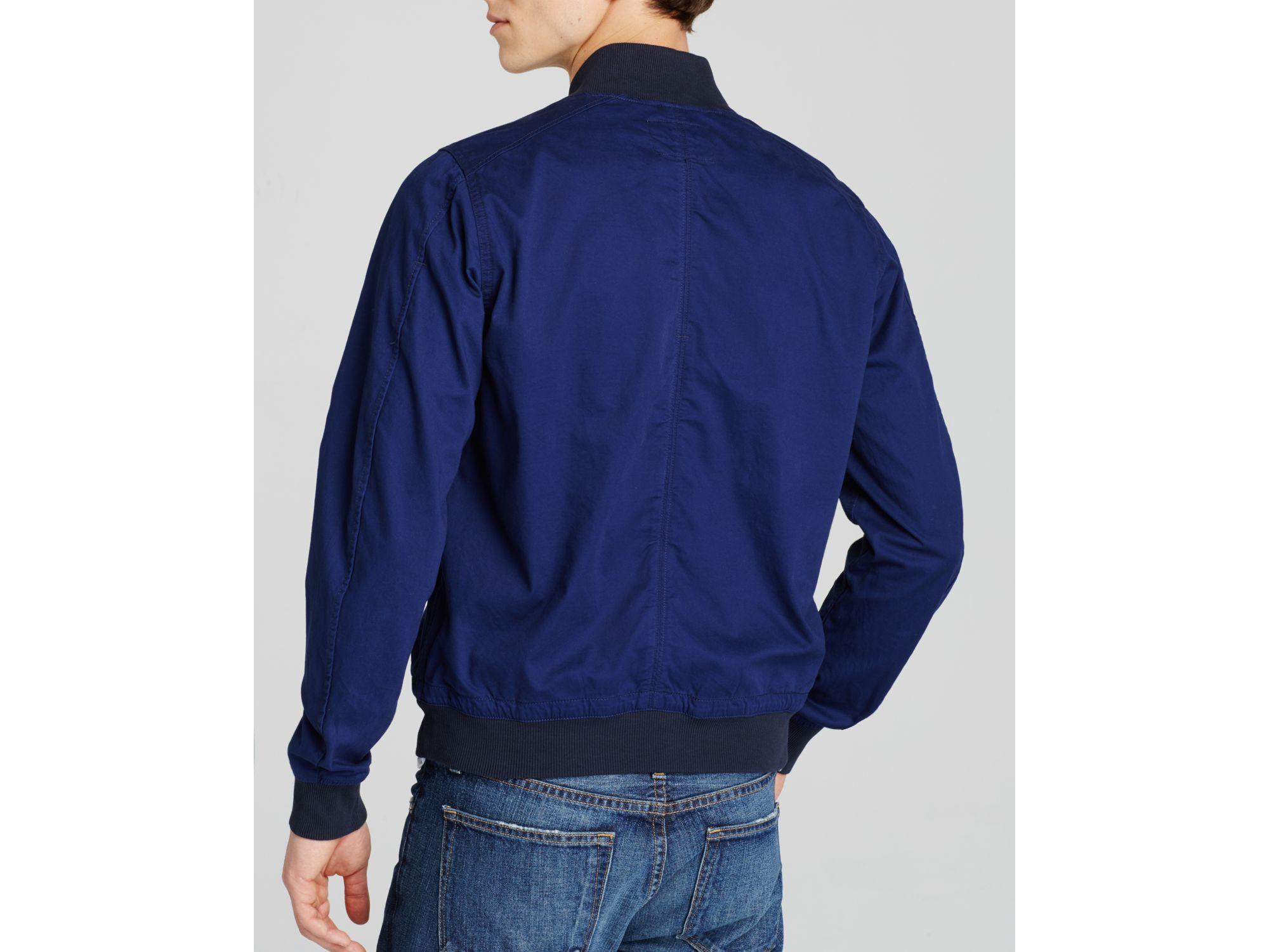 g star raw shattor bomber jacket in blue for men lyst. Black Bedroom Furniture Sets. Home Design Ideas