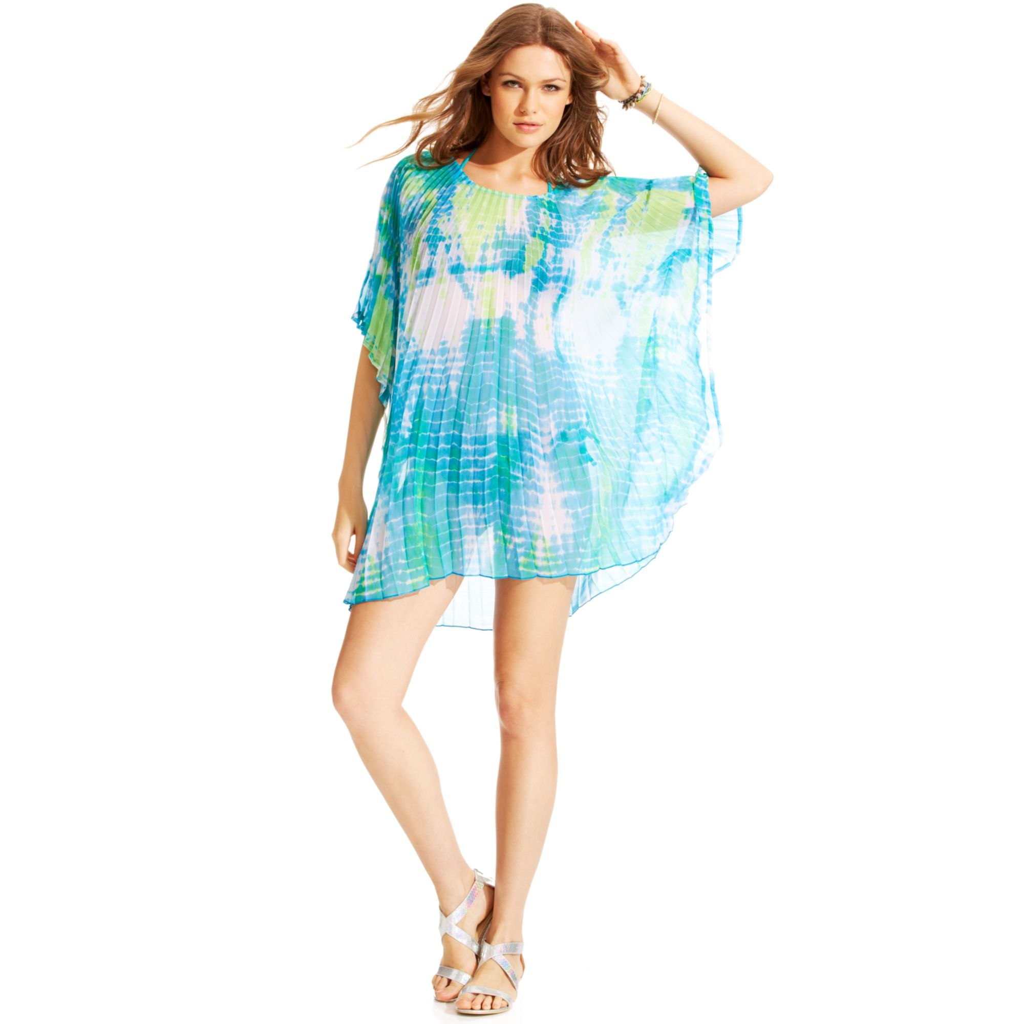 steve madden tie dye cover up in green pink lyst