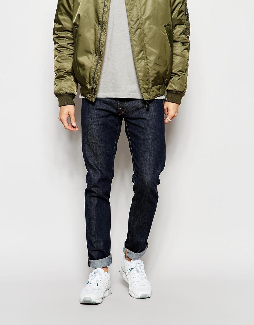 Jeans in Slim Fit - Dark blue Selected 6AxPMum