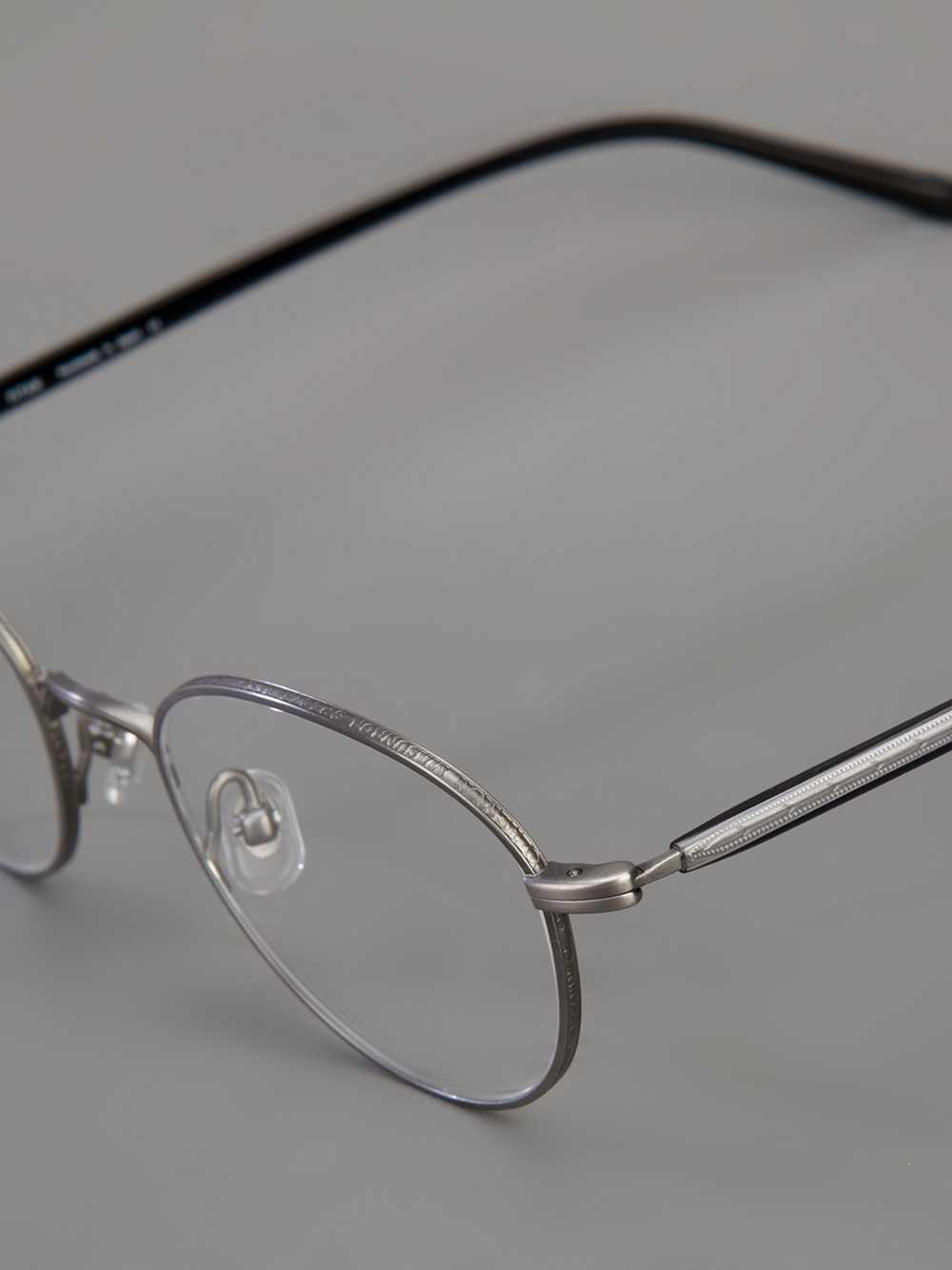 Masunaga Round Frame Glasses In Metallic For Men Lyst