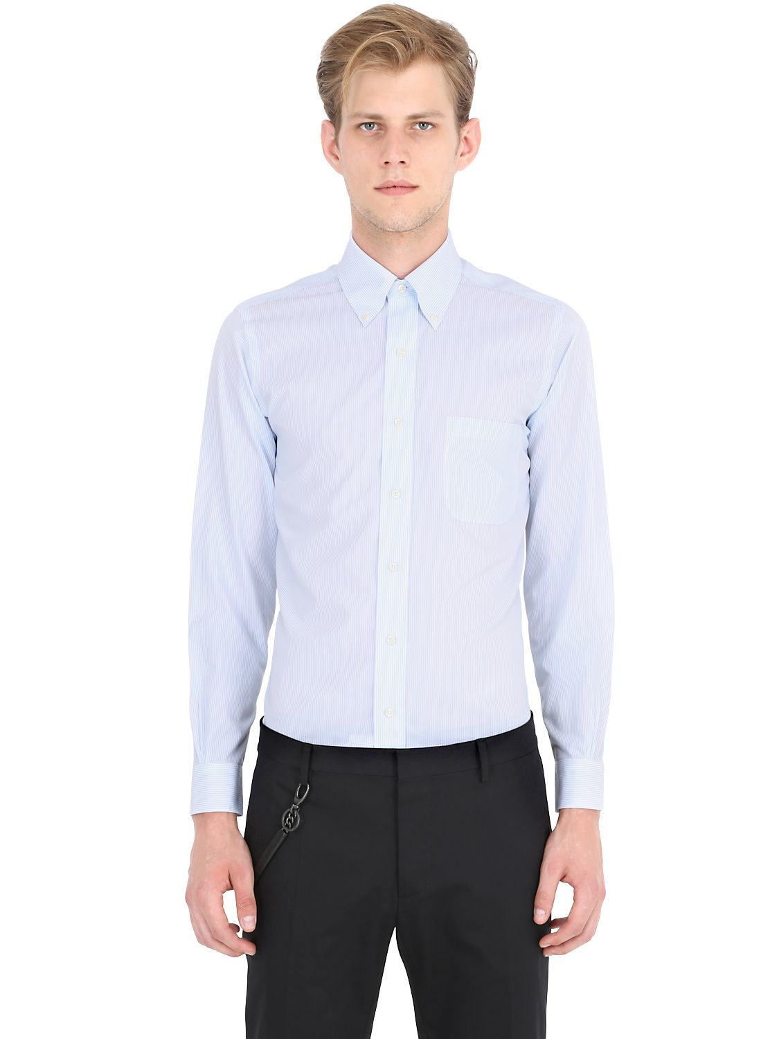 Brooks brothers button down cotton broadcloth shirt in for Brooks brothers tall shirts