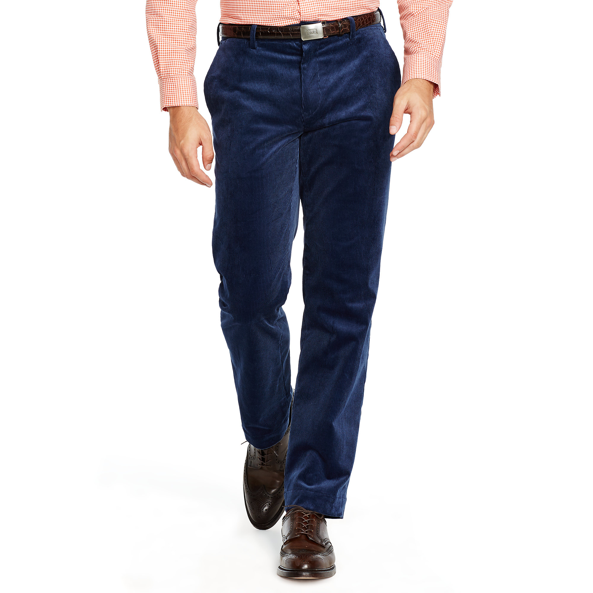 Polo ralph lauren Classic Stretch Corduroy Pant in Blue for Men | Lyst