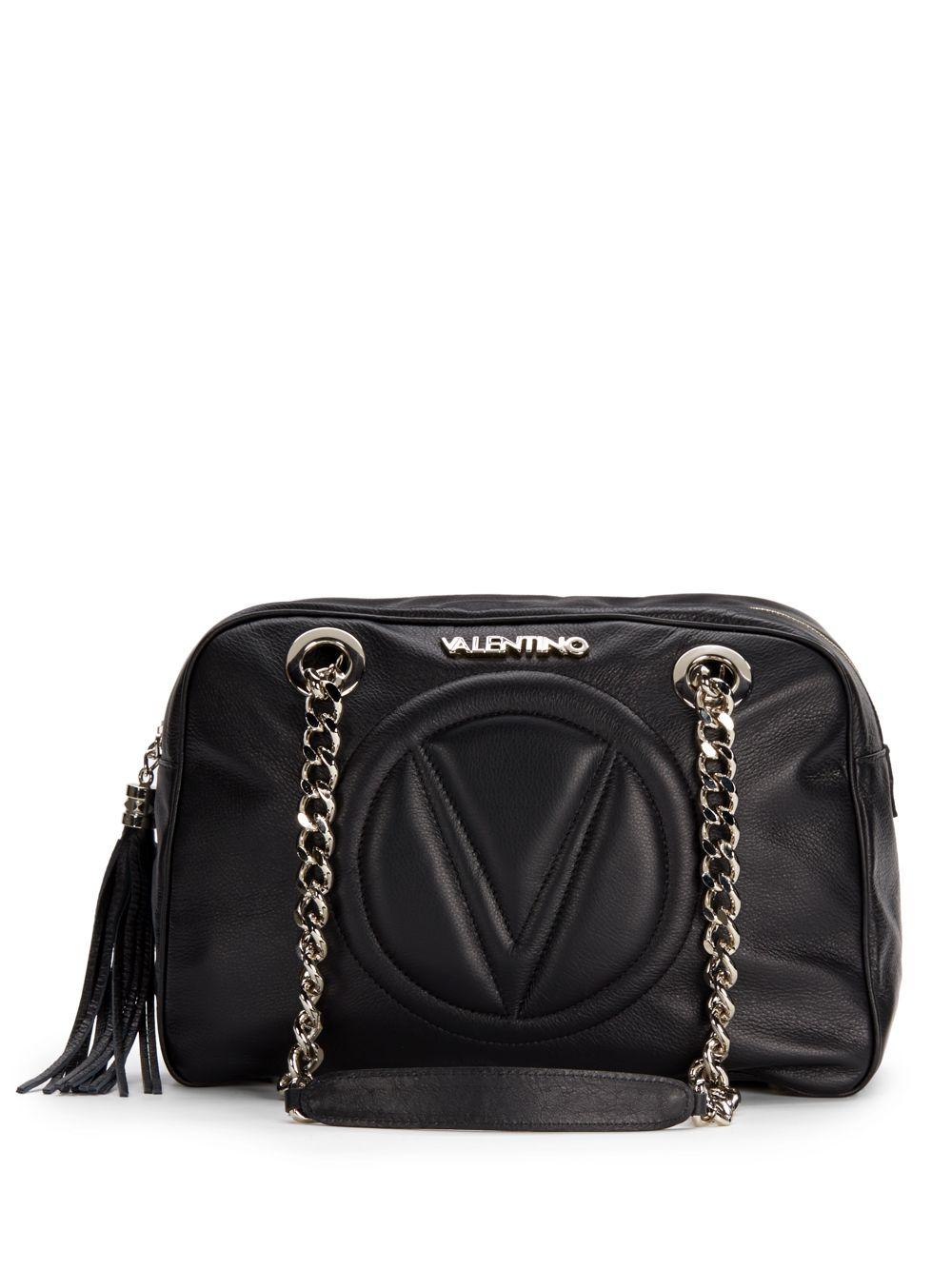 Valentino By Mario Valentino Leather Madonna Embossed Logo