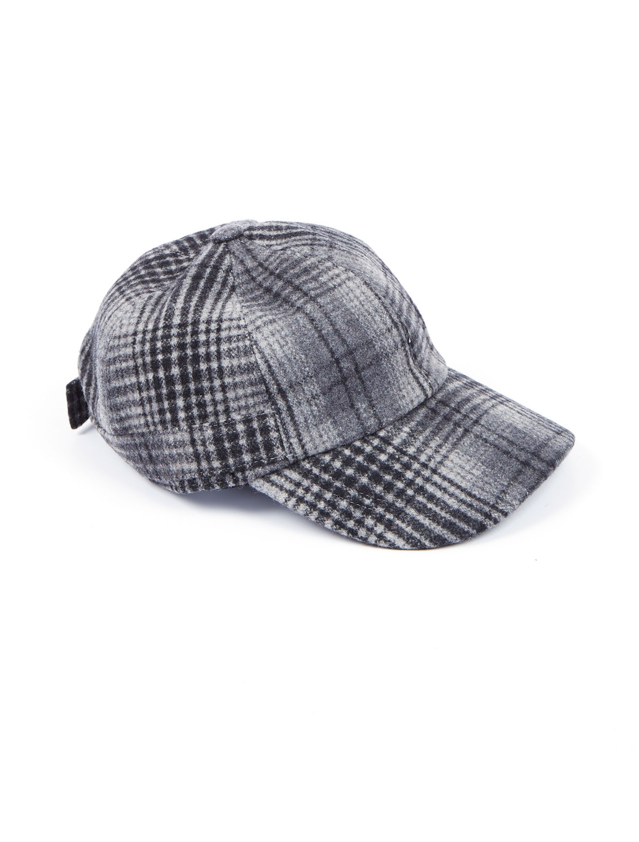 scoop plaid baseball hat in gray for charcoal lyst
