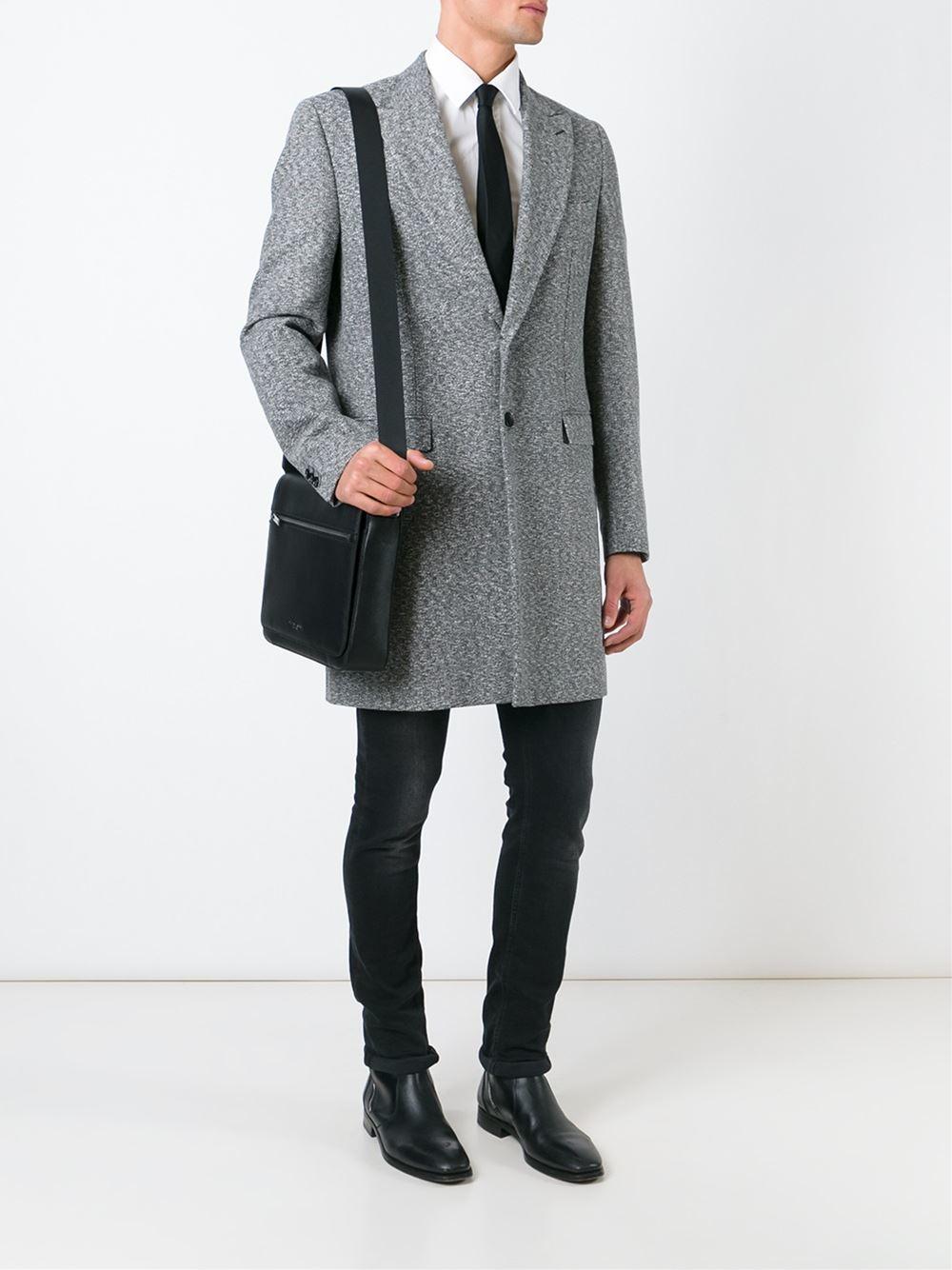 5ed6a4650a089 Michael Kors Medium  harrison  Messenger Bag in Black for Men - Lyst