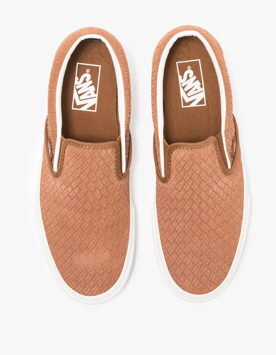 e3ddeecfd22 Lyst - Vans Classic Slip-on Braided Suede