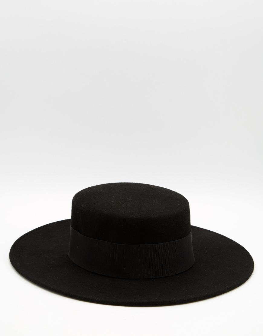 Catarzi Flat Top Wide Brim Hat In Black For Men Lyst