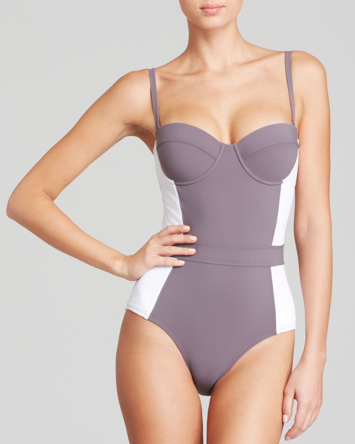 92dea585d7036 Gallery. Previously sold at  Bloomingdale s · Women s Strapless Bikinis  Women s Print Bikinis Women s White One Piece Swimsuits ...