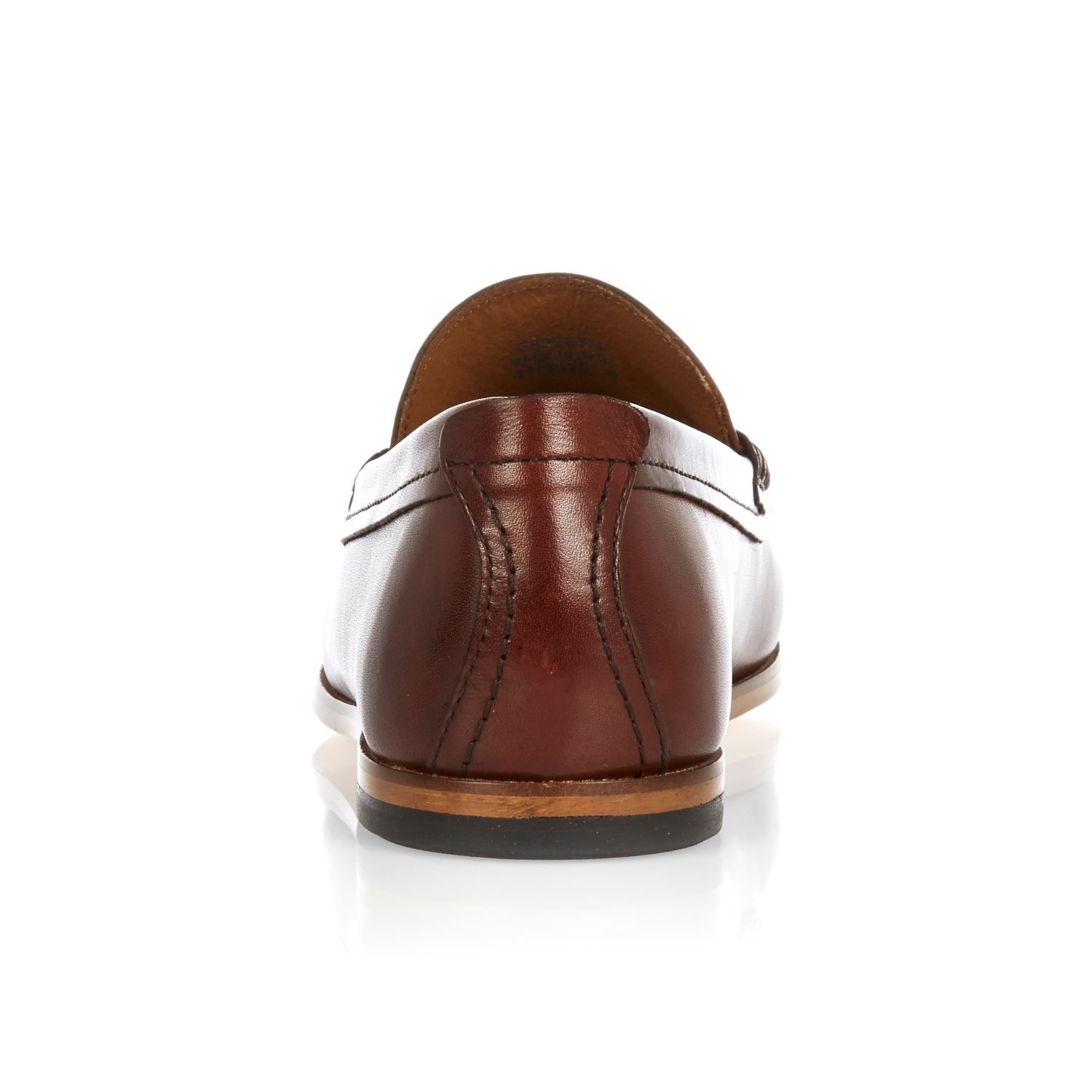 9d73cf913db Lyst - River Island Dark Brown Leather Tassel Loafers in Brown for Men