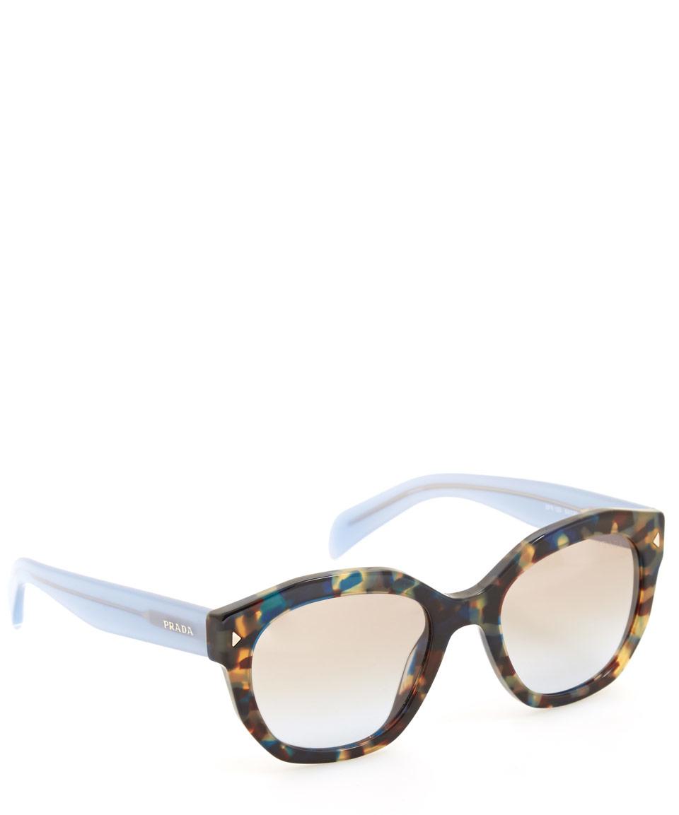 prada blue tortoise shell sunglasses