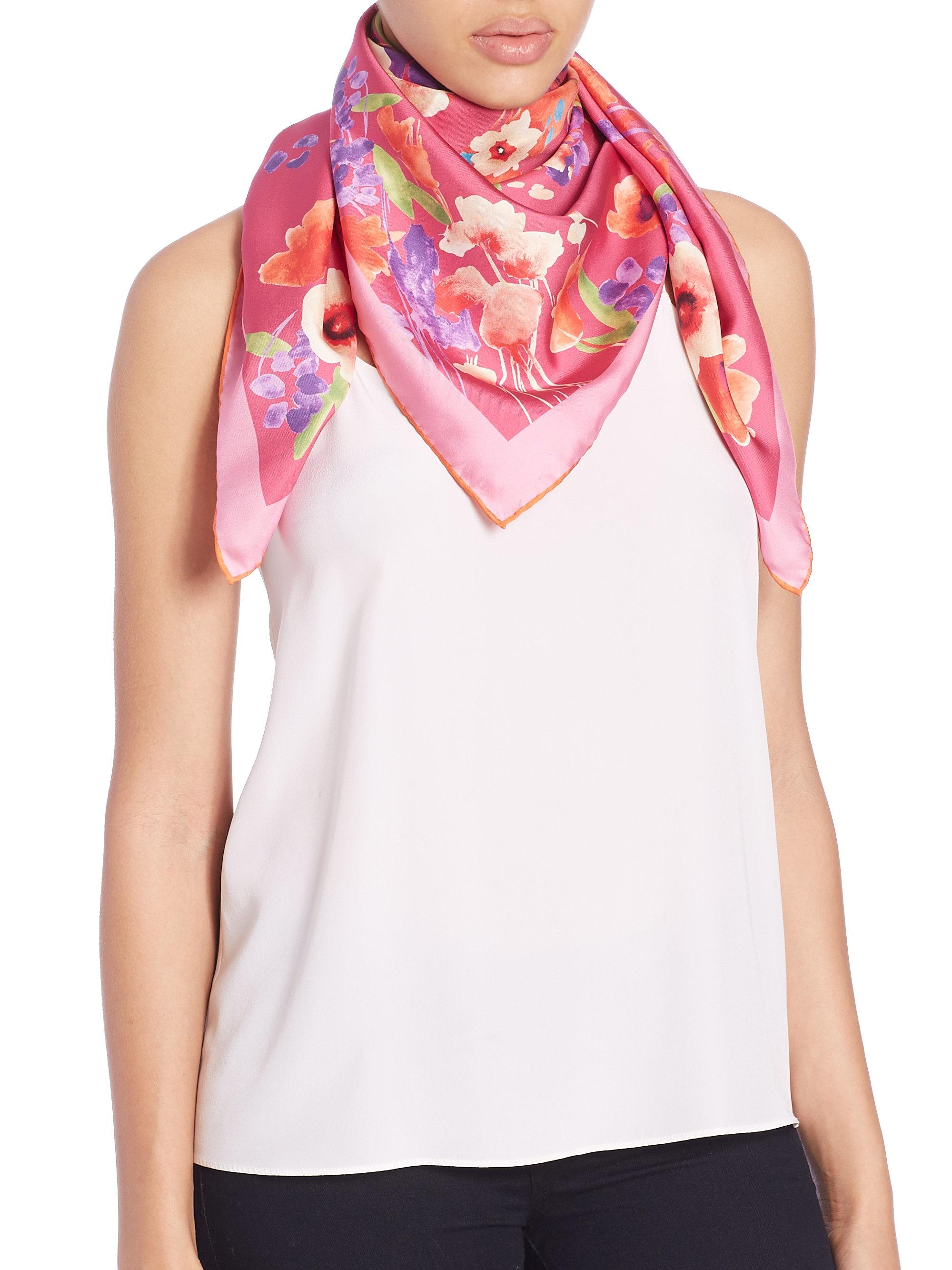 cavalli ferrari scarf silk fullscreen lyst chiffon cashmere print gauze printed roberto animal frayed franco accessories view