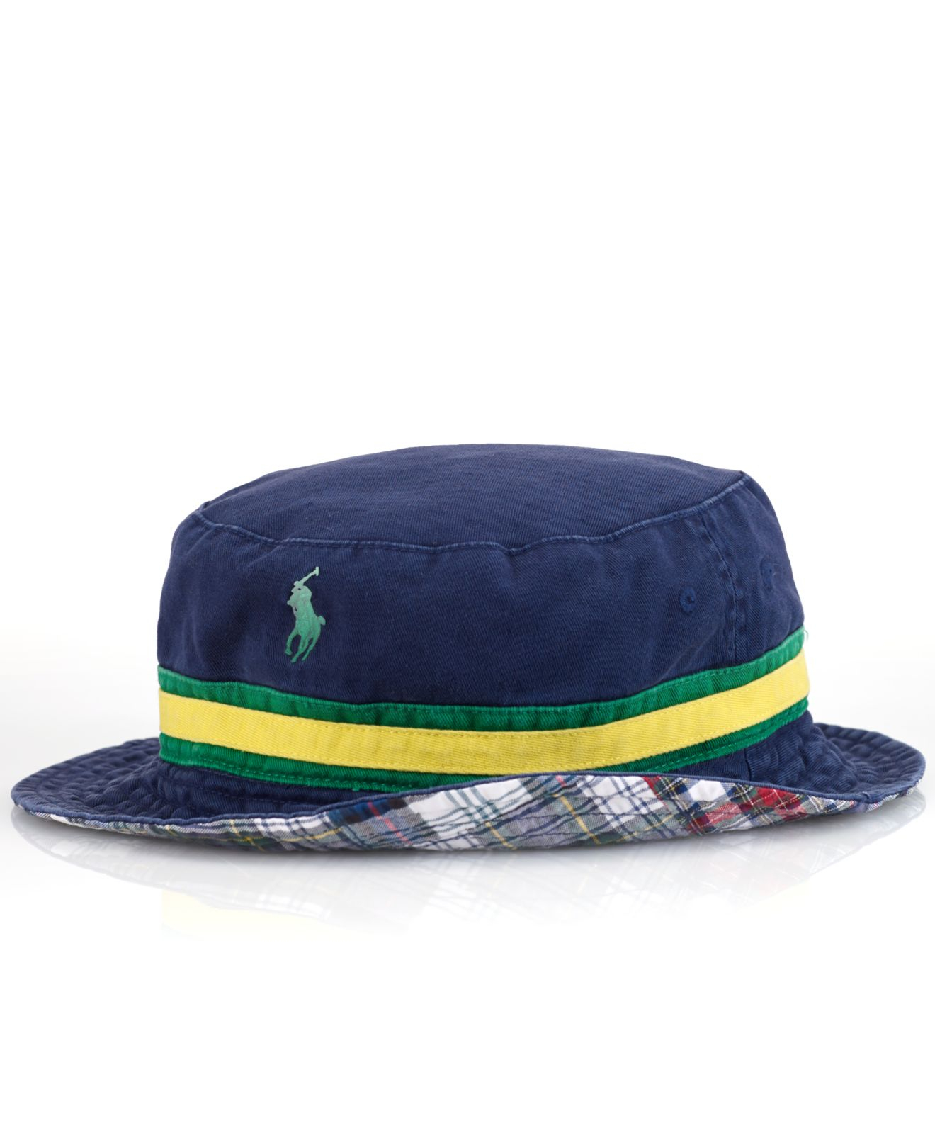 295ed1556f8 Lyst - Polo Ralph Lauren Reversible Plaid Bucket Hat in Blue for Men