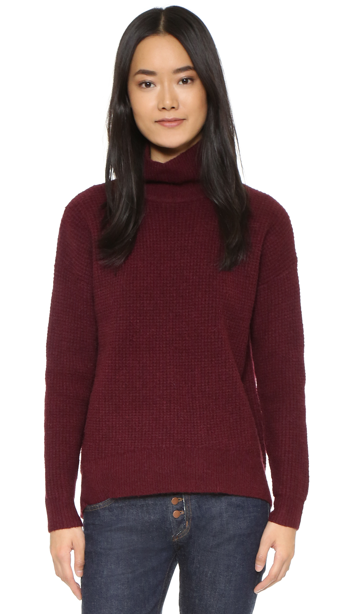 Madewell Solid Aria Turtleneck in Red | Lyst