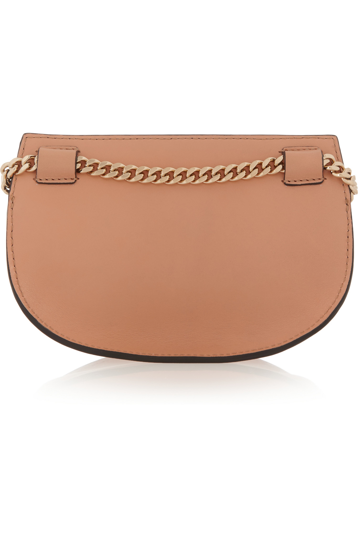 chlo 233 convertible leather belt bag in brown lyst