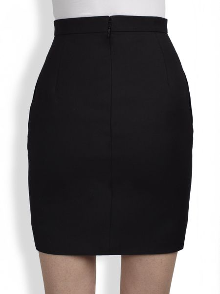 laurent mini pencil skirt in black lyst