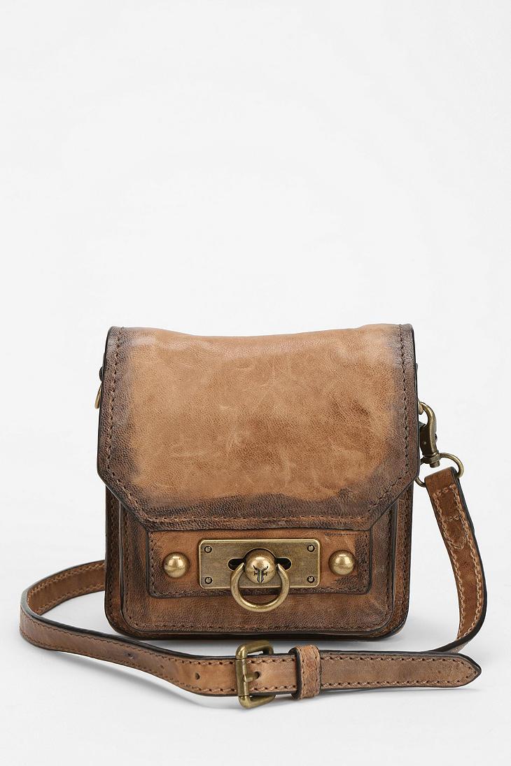 lyst frye frye cameron mini crossbody bag in brown