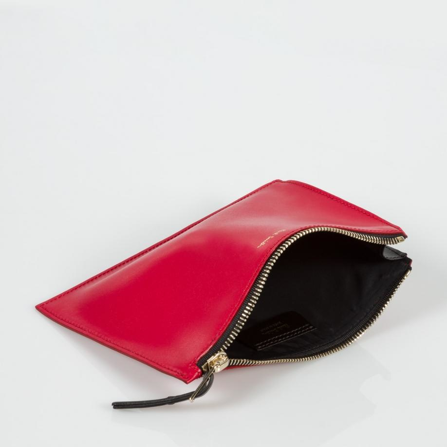 Paul Smith Women's Cherry Red Leather Pouch