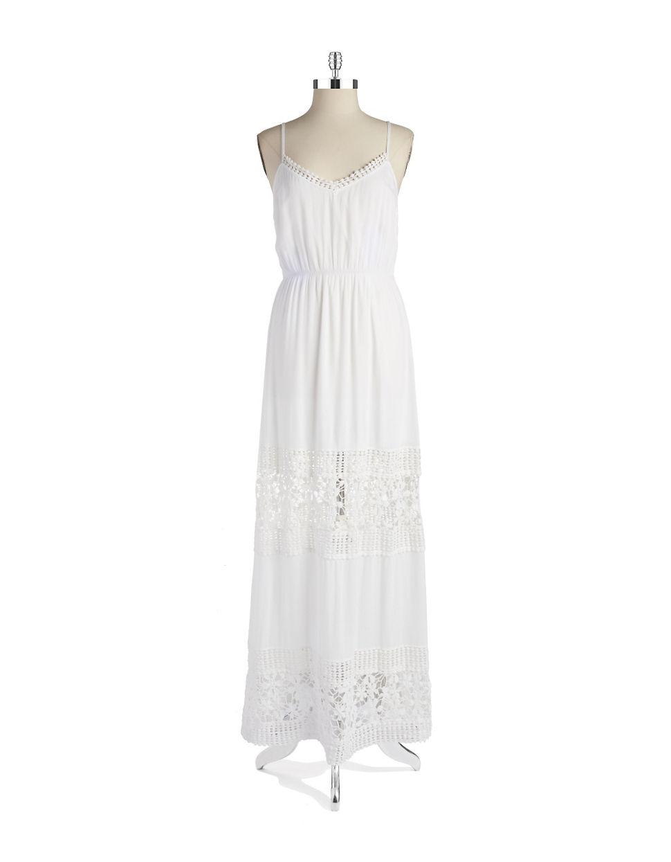 Ark Co Crocheted Maxi Dress In White Lyst