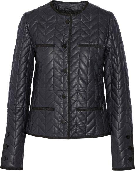 Day Birger Et Mikkelsen Merkez Quilted Leather Jacket in Blue | Lyst