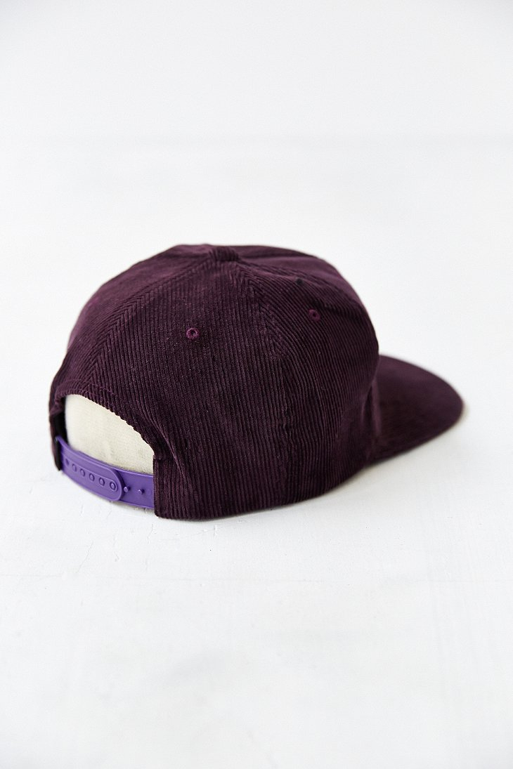 caf8f902264 Stussy Cord Snapback Hat in Purple for Men - Lyst