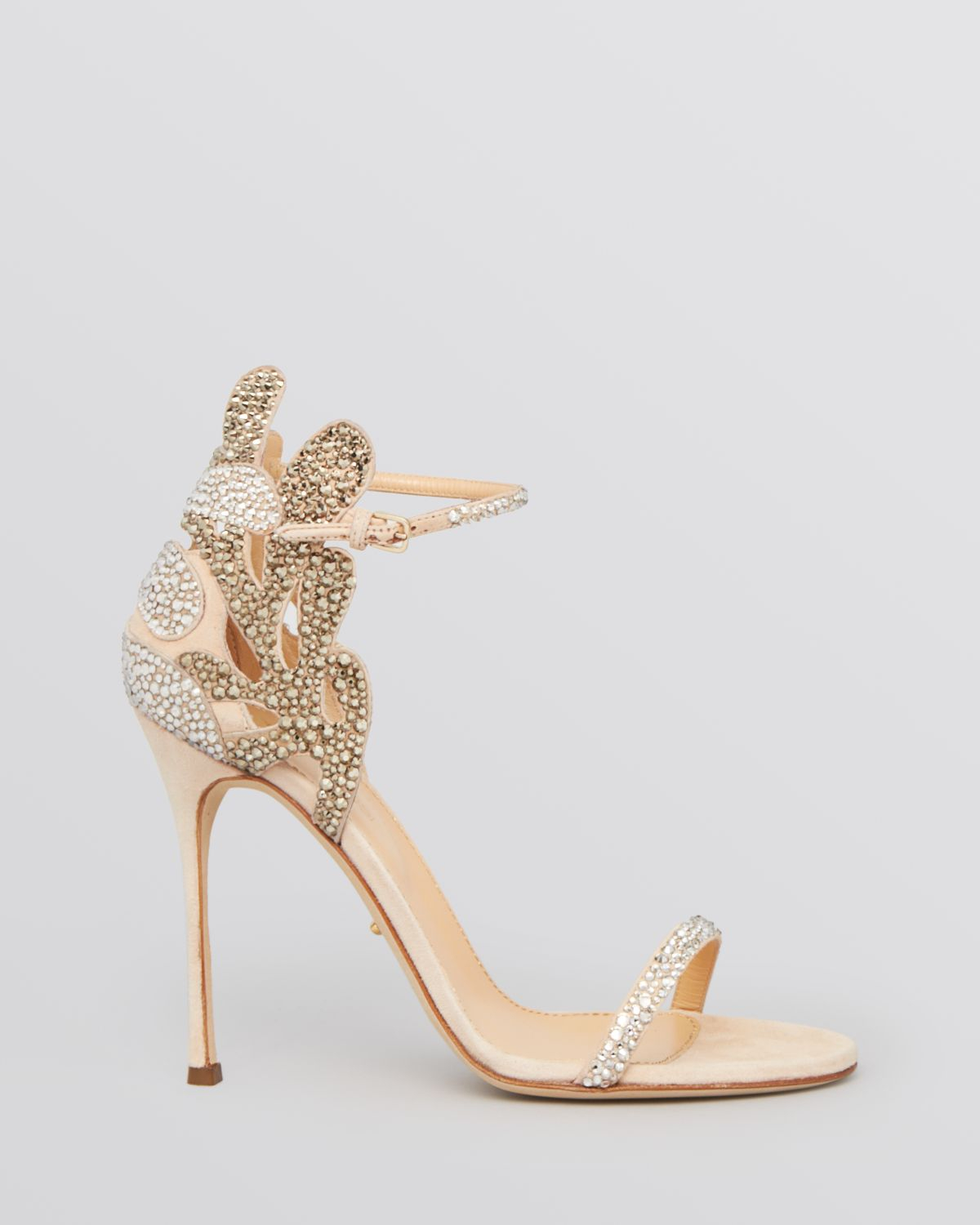 977a6f50aa5b9 Sergio Rossi Ankle Strap Evening Sandals - Matisse Filigree High ...