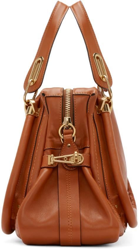 Chlo¨¦ Brown Leather Medium Paraty Shoulder Bag in Brown | Lyst