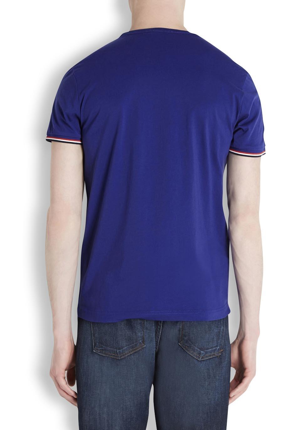 moncler royal blue t shirt