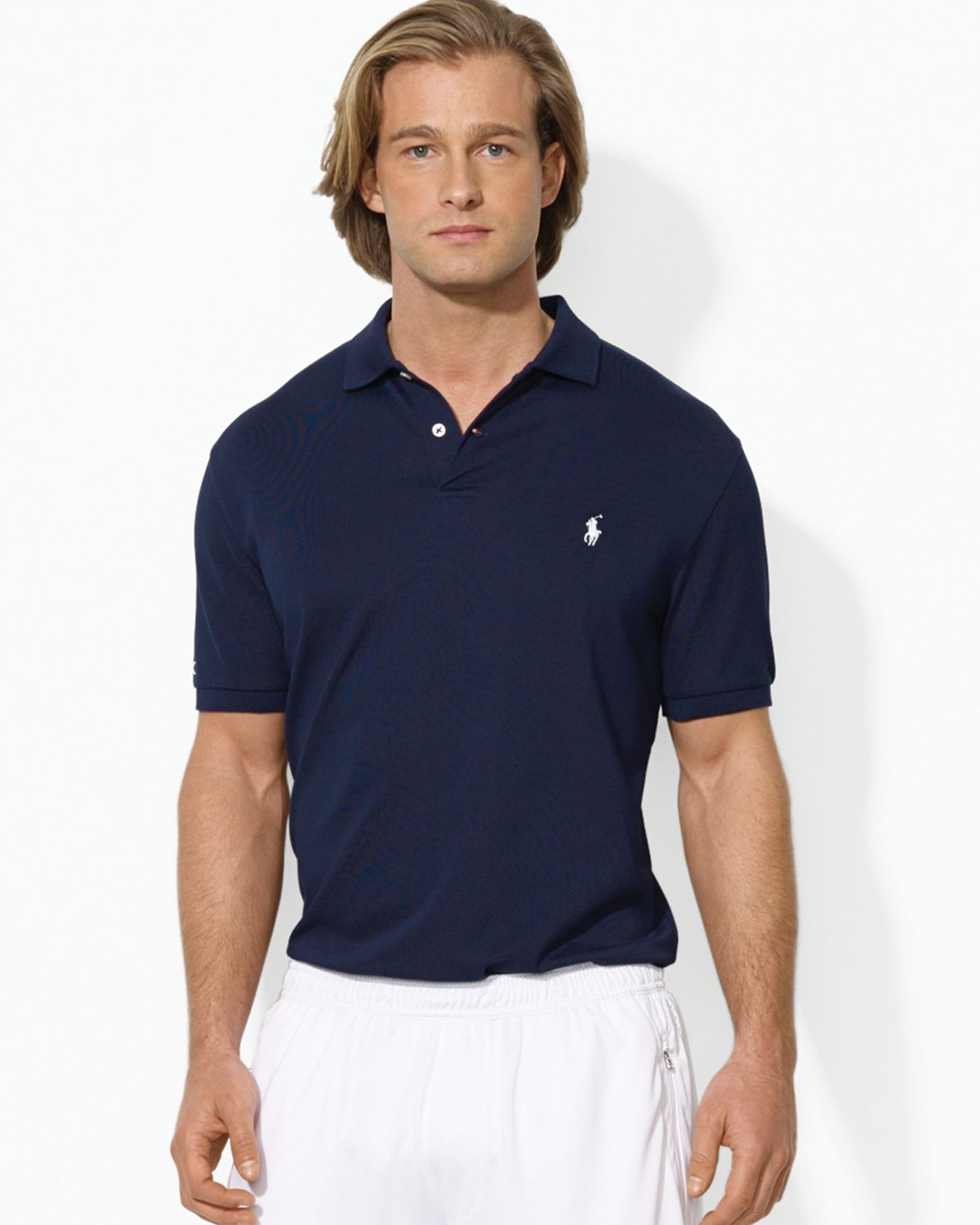 ralph lauren polo performance polo shirt in blue for men