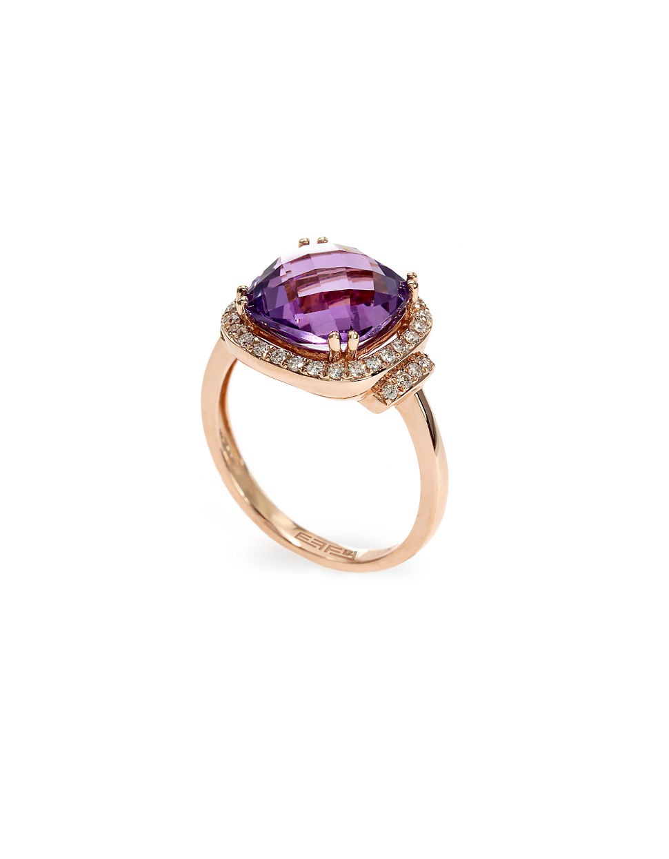 668aacea8 Effy Lavender Rose Amethyst, Diamond And 14K Rose Gold Ring in Pink ...