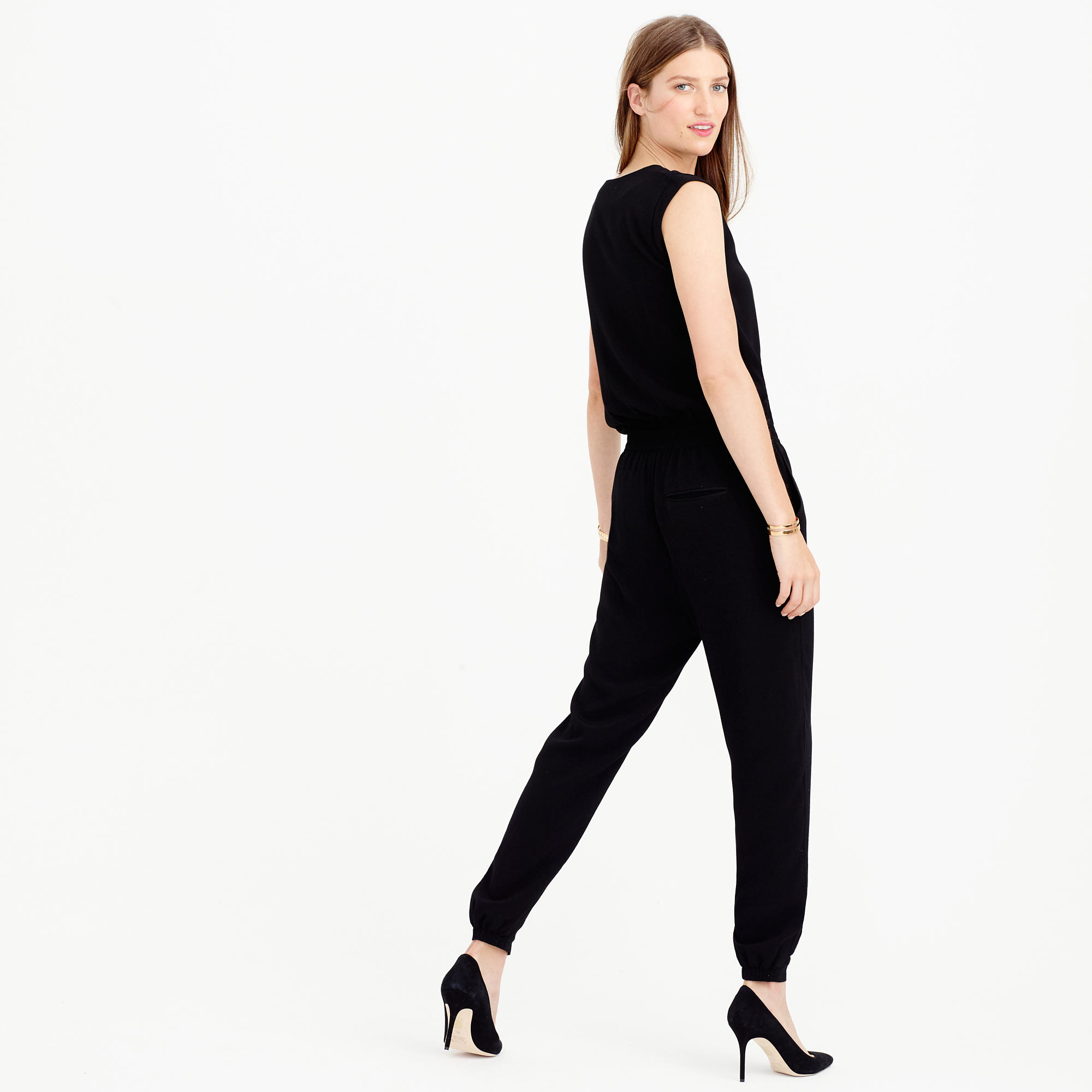 a6135badf70d J.Crew Asymmetrical Zip Jumpsuit in Black - Lyst